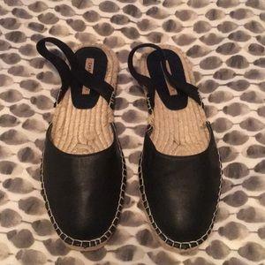 Zara espadrille sandals with elastic heel back